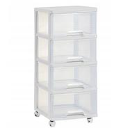 Стеллаж для хранения с ящиками 4x20л