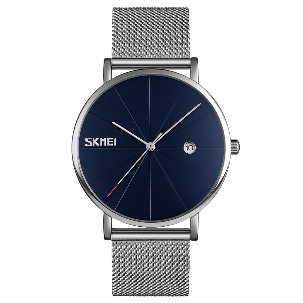 Skmei 9183 Tiger серебристые с синим циферблатом наручные часы