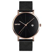Оригинальные наручные часы Skmei Tiger  9183 Черные с золотом