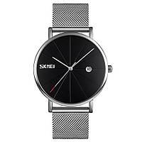 Оригинальные наручные часы Skmei Tiger  9183 Серебристые с Черным циферблатом