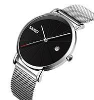 Skmei 9183 Tiger серебристые с черным циферблатом оригинальные наручные часы