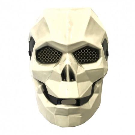 Маска пластик Киборг-череп белый
