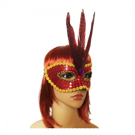 Венецианская маска Фантазия красная