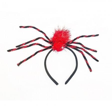 Шляпка на ободке Паук красный