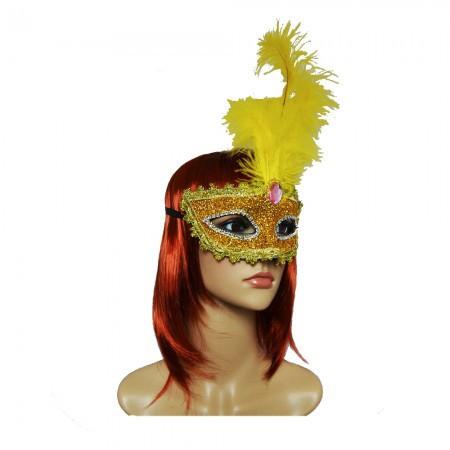 Венецианская маска Летиция 30см золотая