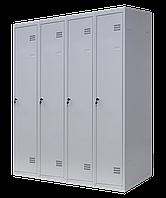 Шкаф для одежды разборной на четыре человека 4/120(1800х1200х500) толщина металла 0,5 мм