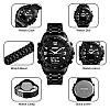 Skmei1464  Kompass Pro черные мужские часы с компасом и термометром, фото 5