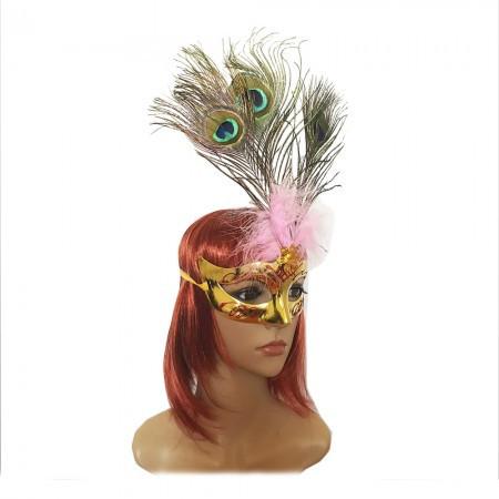 Венецианская маска Дива золотая