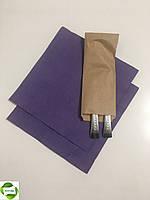 Бумажные пакеты для столовых приборов 70мм*0мм*225мм бурые