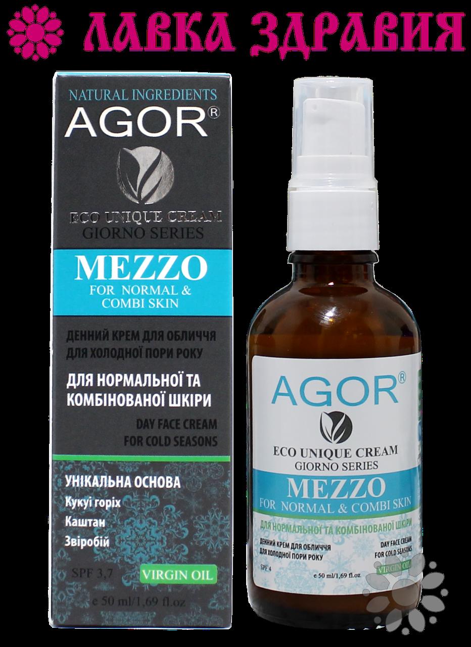Крем денний для нормальної та комбінованої шкіри MEZZO, 50 мл, AGOR (зимова серія)