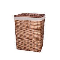Корзина для белья плетеная с крышкой коричневая AWD02241586