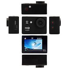 Экшн камера Original size Sports Cam W9 FullHD 1080p 2' экран Action camera , фото 3