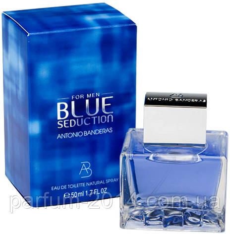 Мужская туалетная вода Antonio Banderas Blue Seduction  (реплика), фото 2