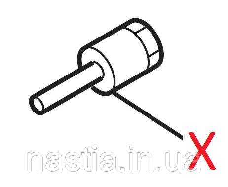 L 11009018 З'єднувальний елемент крана пару та гарячої води(металевий, короткий), L=15,1mm