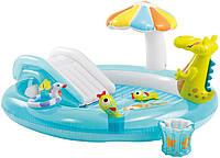Детский надувной игровой центр Intex 57129  с горкой