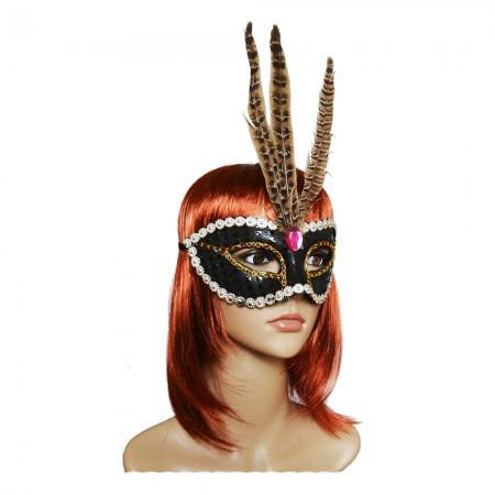 Венецианская маска Фантазия черная
