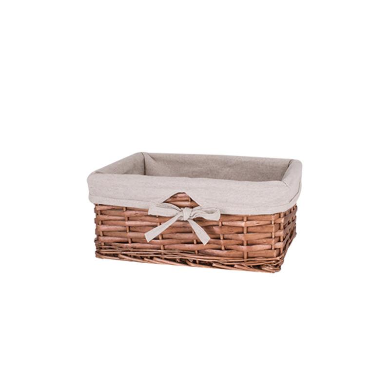 Корзина для белья плетеная коричневая AWD02241587