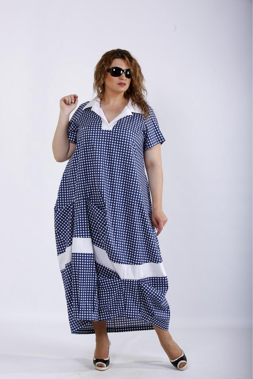 Платье женское летнее натуральное больших размеров 42-74
