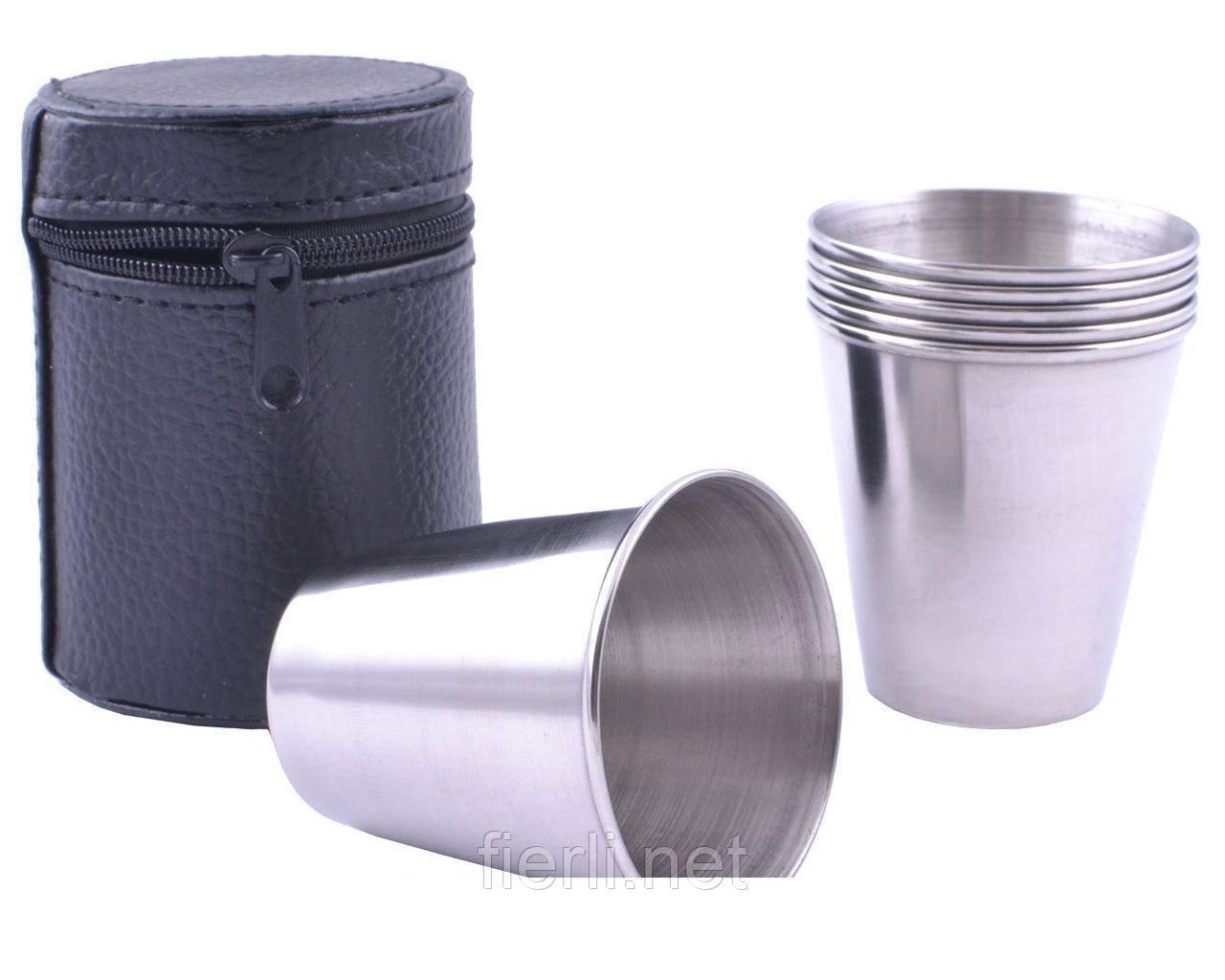 Походные рюмки из нержавеющей стали (6 шт) PM-14-6