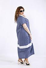 Платье женское летнее натуральное больших размеров 42-74, фото 3