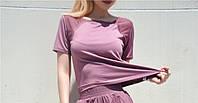 Женская спортивная футболка Overgym фиолетовая XS