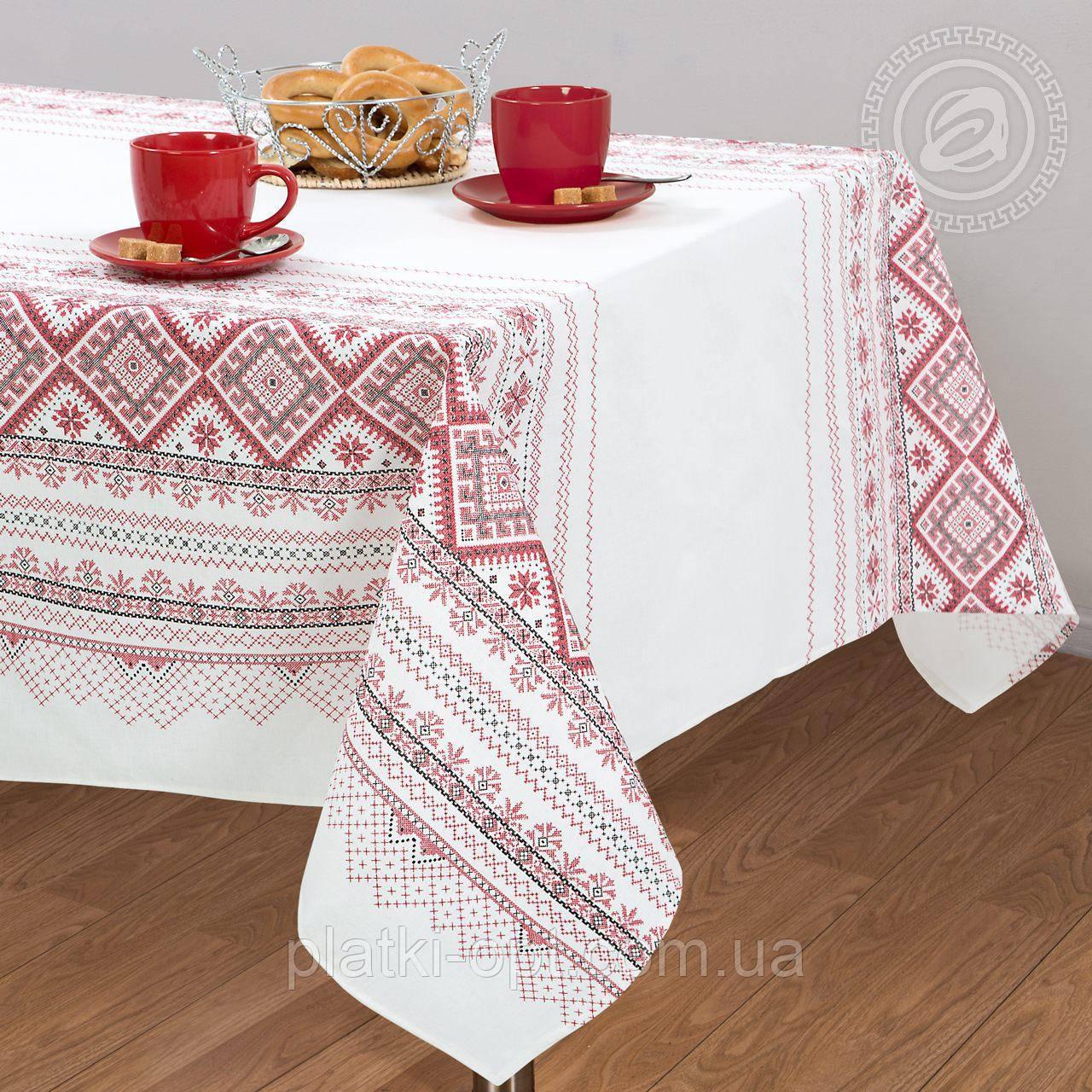"Скатерть льняная  ""Каравай"" 1.5м х 1.1м (кухонный стол)"