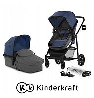Универсальная коляска Kinderkraft  2in1 JULI (серый и синий ), фото 1