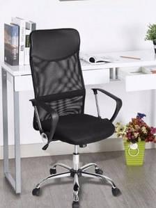 Кресло офисное Оливия D черная сетка от SDM group, ноги хром