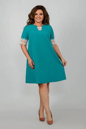 """Нежное женское платье ткань """"Костюмная"""" 48, 50, 52, 54, 56 размер батал, фото 2"""
