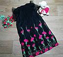 Нарядное черное платье на девочку с вышитыми цветами Forever21 (США) (Размер 9-10Т), фото 2