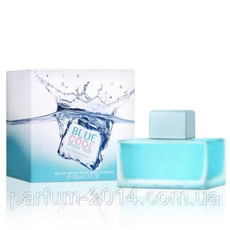 Женская туалетная вода Antonio Banderas Blue Cool Seduction (реплика), фото 2