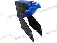 Подлокотник синий с вышивкой ВАЗ 2111