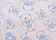 Сатин (хлопковая ткань)  мишки с голубой косичкой, фото 2