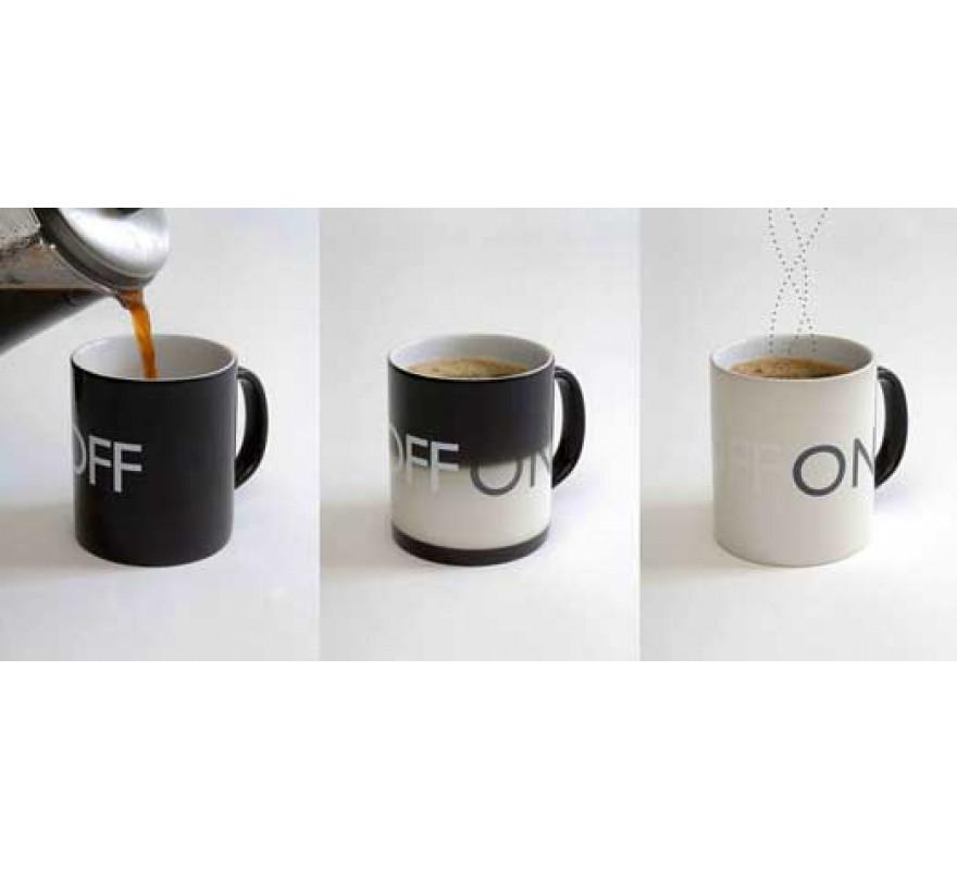 Чашка с терморисунком ON  OFF ( Кружка он офф ) ( хамелеон )