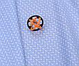 Сатин (хлопковая ткань) голубая косичка, фото 2