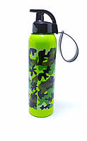 Спортивная бутылочка для воды 750 мл зеленая