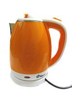 "Чайник электрический ""DOMOTEC"" 2,0L 1500W MS- 5022 Нерж+пластик Оранж, фото 1"