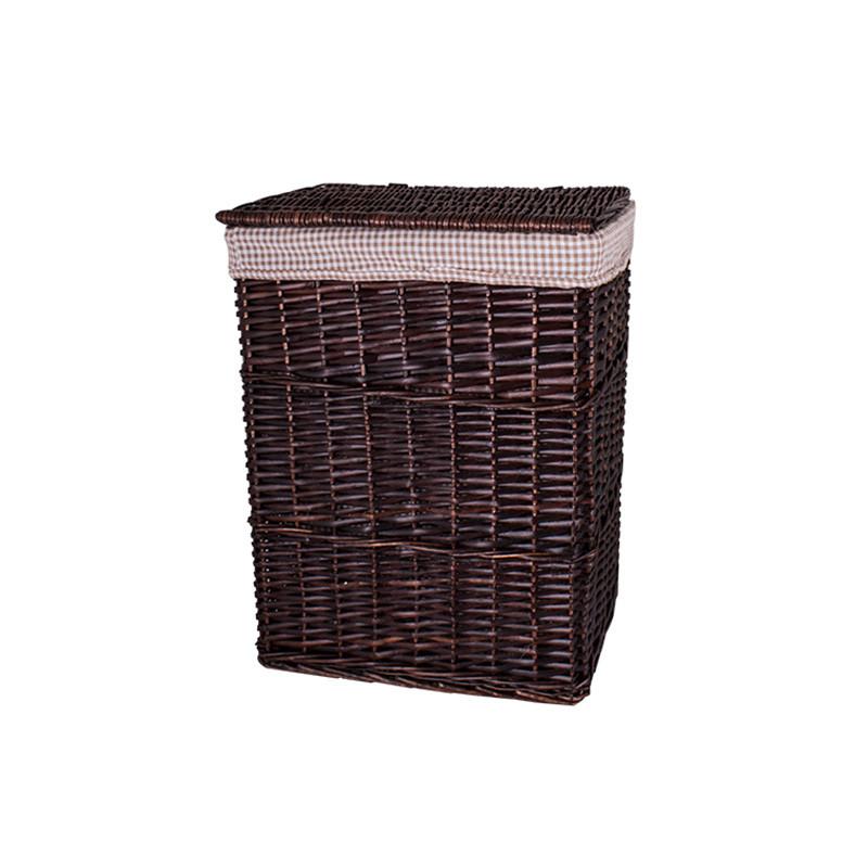 Кошик для білизни плетені з кришкою темно - коричнева AWD02241589