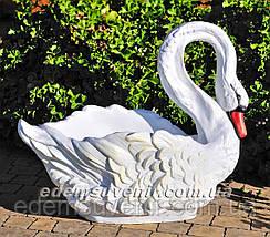 Садовая фигура подставка для цветов кашпо Лебеди большие, фото 3