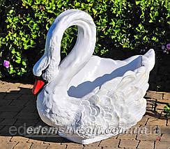 Садовая фигура подставка для цветов кашпо Лебеди большие, фото 2