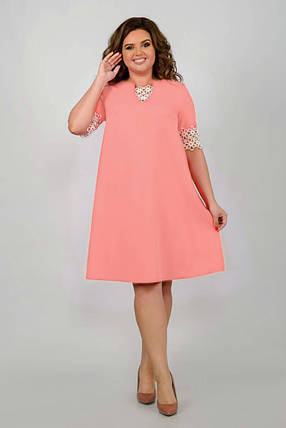 """Стильное  женское платье ткань """"Костюмная"""" 50, 54 размер батал, фото 2"""