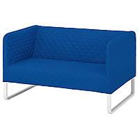 Диван 2-местный IKEA KNOPPARP синий 804.246.51