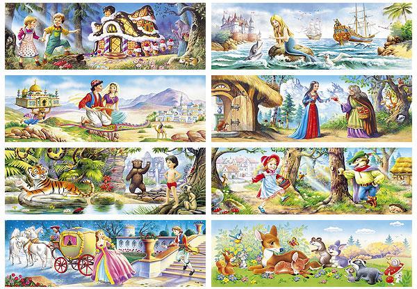 Пазлы Сказки, 220 эл. 8 шт. в упаковке