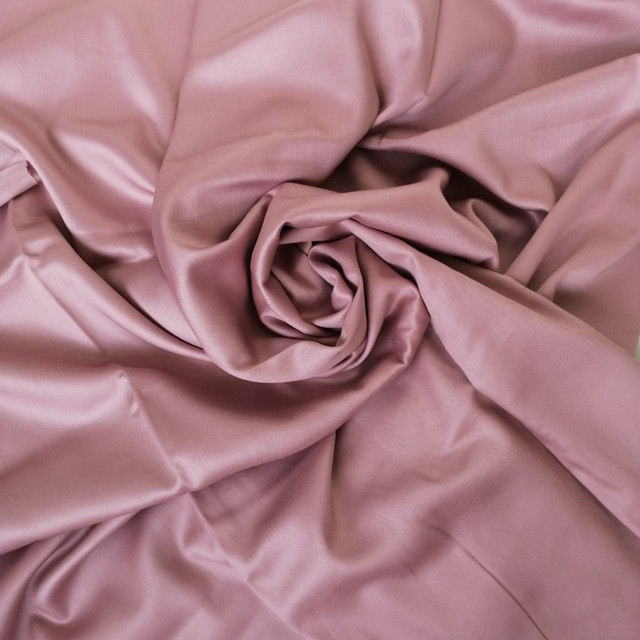 ткань сатин холодная роза