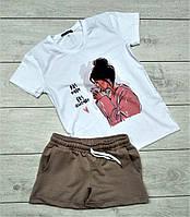 Футболка и шорты, костюм летний женский