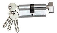 Цилиндровый механизм Fortezi I-80 (40x40) ключ/поворотник Хром