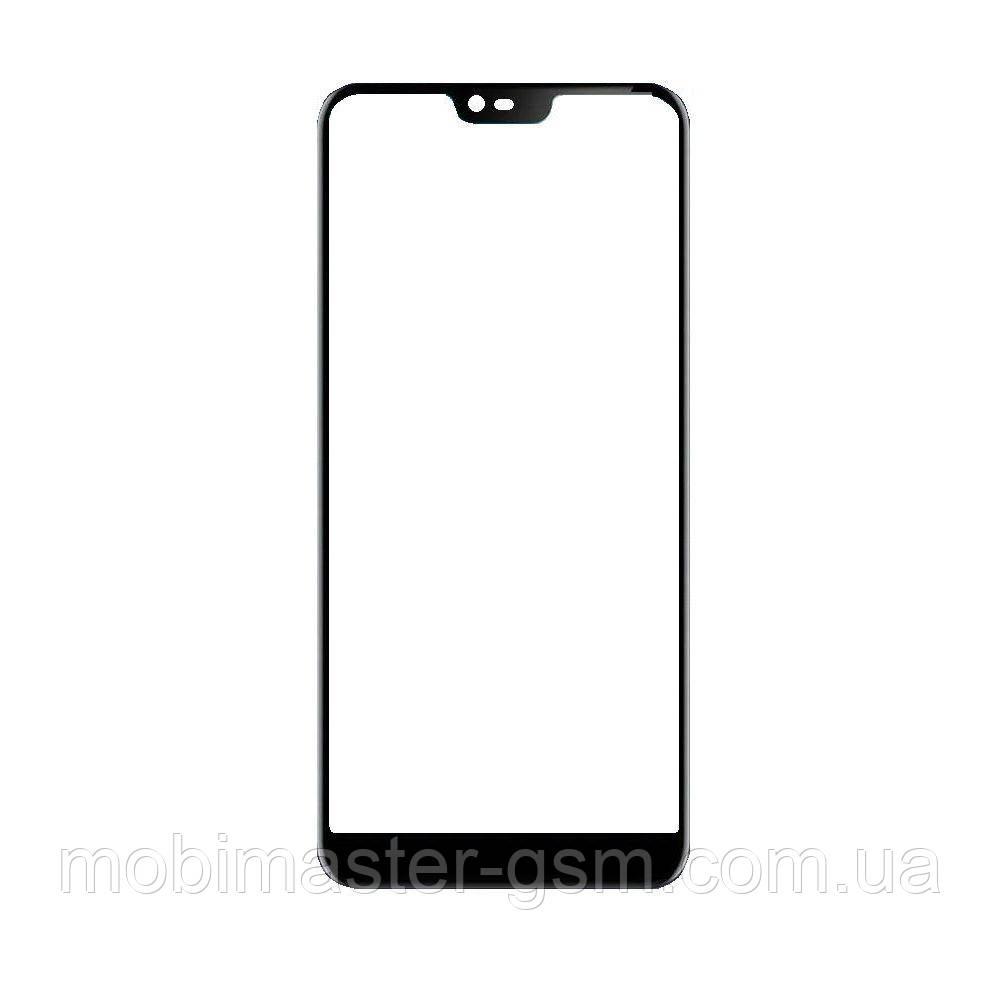 Корпусное стекло Nokia 7.1 черное