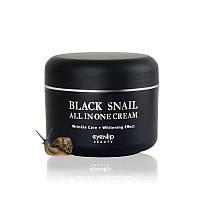 Крем для лица с мицином черной улитки Eyenlip Black Snail All In One Cream