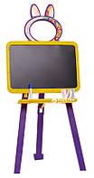 Дошка для малювання жовто - фіолетова (крейда, маркер, губка)  (35*48*7см)