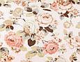 Сатин (бавовняна тканина) велика чайна троянда, фото 2